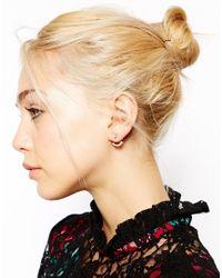 ASOS - White Multi Faux Pearl Swing Earrings - Lyst