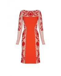 Temperley London | Red Marsha Fitted Dress | Lyst