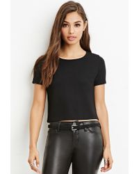 Forever 21 | Black Ladder-back Boxy Tee | Lyst
