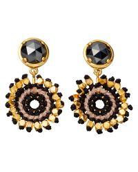 Astley Clarke | Black Calypso Hematite Sonatina 18Ct Gold Earrings - For Women | Lyst