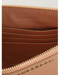 Burberry Brit - Pink Peyton Leather Cross-Body Bag - Lyst