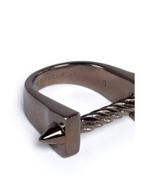 Eddie Borgo - Gray Spike Bit Ring for Men - Lyst