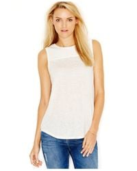 Sanctuary | Natural Sheer Contrast Top | Lyst