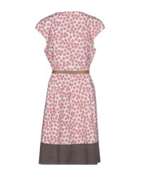 Peserico - Pink Knee-length Dress - Lyst