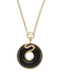 Just Cavalli - Metallic Necklace - Lyst