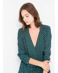 Mango - Green Printed Dress - Lyst