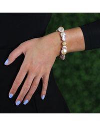 Jordan Alexander - Metallic White Baroque Pearl Bracelet - Lyst
