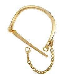 Rebecca Minkoff | Metallic Golden Locking Bangle | Lyst
