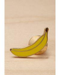 Forever 21 | Yellow Greenwich Letterpress Enamel Banana Pin | Lyst
