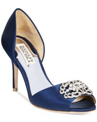 Badgley Mischka | Blue Seneca Evening Peep Toe Pumps | Lyst