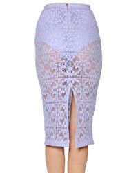 Burberry Prorsum | Purple Cotton Victorian Lace Skirt | Lyst