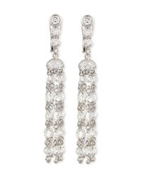 Maria Canale For Forevermark | Multicolor Swing Collection Rose-cut Tassel Earrings | Lyst