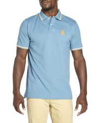 Psycho Bunny | Blue Neon Bunny Polo for Men | Lyst