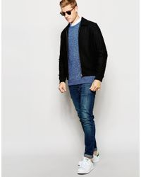Lyle & Scott - Blue Sweater With Marl Knit for Men - Lyst