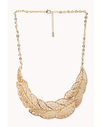 Forever 21 | Metallic Cutout Wreath Bib Necklace | Lyst