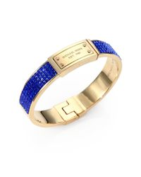 Michael Kors - Blue Signature Pave Bangle Bracelet - Lyst