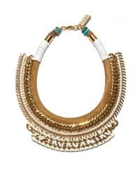 Lizzie Fortunato | Metallic Exclusive Turquoise Wheat Field Necklace | Lyst