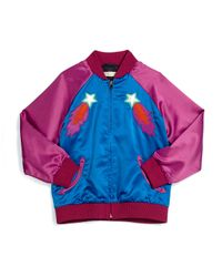 Stella McCartney - Blue Willow Shooting Star Bomber Jacket - Lyst
