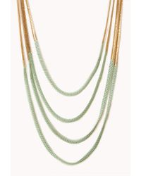 Forever 21 - Metallic Neon Pop Layered Necklace - Lyst