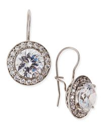 Fantasia by Deserio - Metallic Antique-inspired Round Cubic Zirconia Earrings - Lyst