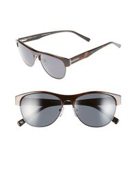 Ted Baker | Gray 56mm Aviator Sunglasses for Men | Lyst