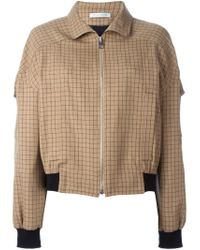 J.W.Anderson | Brown Grid Bomber Jacket | Lyst