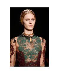 Valentino - Metallic Virgo Pendant Necklace - Lyst