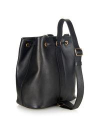 Saint Laurent   Black Emmanuelle Leather Backpack   Lyst