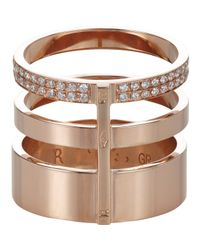 Repossi - Pink Berbere Module Triple-band Cage Ring - Lyst