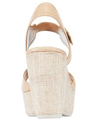 Clarks | Natural Artisan Women's Nadene Lola Platform Wedge Sandals | Lyst