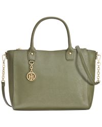 Tommy Hilfiger | Green Sharon Convertible Shopper | Lyst