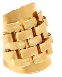 Ela Stone - Metallic Nicole Block Chain Ring - Lyst