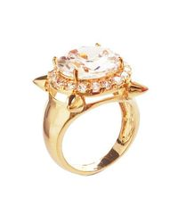 Noir Jewelry | Metallic Four Points Mini Punk Ring | Lyst