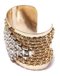 DANNIJO - Metallic Gold-plated Simone Crystal Cuff - Lyst