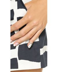 Bijules   Metallic Short Nail Ring - Silver   Lyst