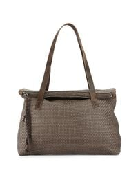 Henry Beguelin - Gray Lady Amazone Medium Woven Fold-over Tote Bag - Lyst