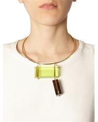 Fendi | Yellow Colour-Block Necklace | Lyst