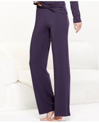 Calvin Klein | Purple Pajama Essentials Satin Trim Pajama Pants S2452 | Lyst