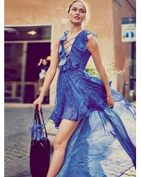 Free People | Blue Goddess In Rome Dress | Lyst