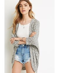 Forever 21 | Gray Textured Dolman Cardigan | Lyst