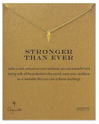 Dogeared | Metallic Stronger Than Ever Lightning Bolt Necklace | Lyst