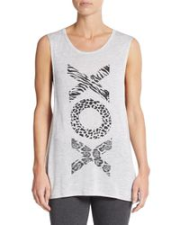 Betsey Johnson | White Xo Muscle Tank | Lyst