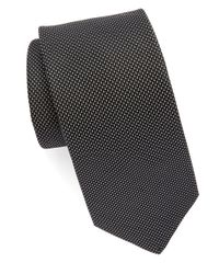 Michael Kors | Black 'atlas Micro' Woven Silk Tie for Men | Lyst