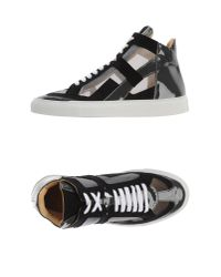 MM6 by Maison Martin Margiela - Black High-tops & Sneakers - Lyst