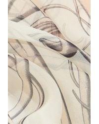 Alexander McQueen - Natural Art Nouveau Printed Silk-Chiffon Scarf - Lyst