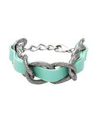House of Harlow 1960 - Blue Engraved Link Bracelet for Men - Lyst