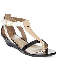 Bandolino | Natural Pooky Wedge Sandals | Lyst