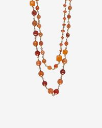 Rosantica - Orange Beaded Rosary Chain - Lyst