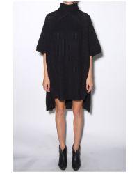 By Malene Birger - Black Greta Cape Sweater - Lyst