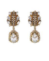 Erickson Beamon - Metallic 'damsel' Crystal Spiral Fringe Earrings - Lyst
